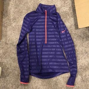 Purple Striped Nike Half Zip